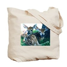 Does in Morning Haze Tote Bag