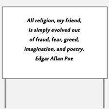 All Religion Poe Yard Sign