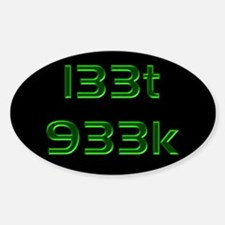 l33t 933k - Oval Decal