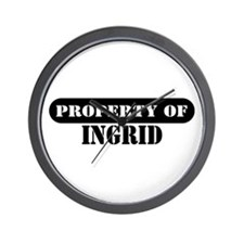 Property of Ingrid Wall Clock