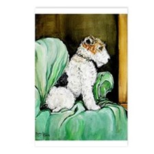 "Fox Terrier ""Waiting"" Postcards (Package of 8)"
