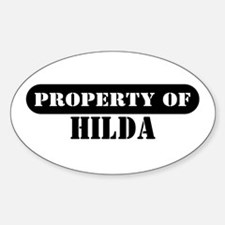 Property of Hilda Oval Decal