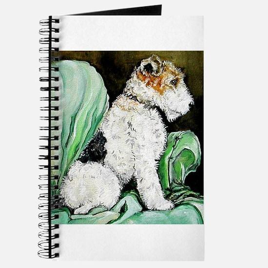"""Fox Terrier """"Waiting"""" Journal"""