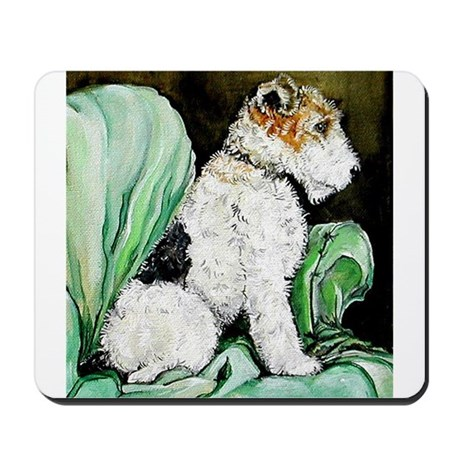 "Fox Terrier ""Waiting"" Mousepad"