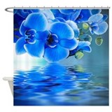 Blue orchid Shower Curtains