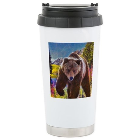 Grizzly Bear Territory Stainless Steel Travel Mug