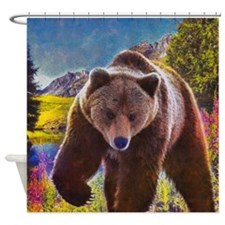 Grizzly Bear Territory Shower Curtain