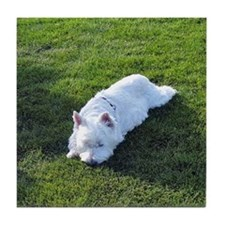 WEST HIGHLAND WHITE TERRIER: WESTIE LOVE Tile Coas