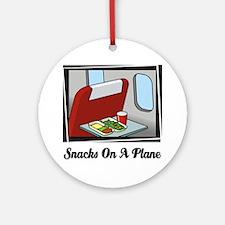 Snacks On A Plane Ornament (Round)