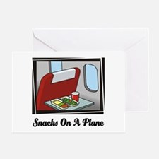 Snacks On A Plane Greeting Card