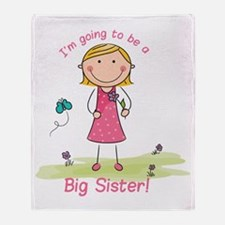 Big Sister to be Throw Blanket