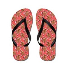 Gingerbread Men Cookies Candies Red Flip Flops