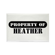 Property of Heather Rectangle Magnet (10 pack)
