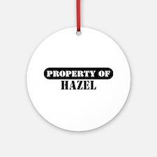 Property of Hazel Ornament (Round)