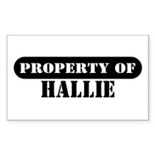 Property of Hallie Rectangle Decal
