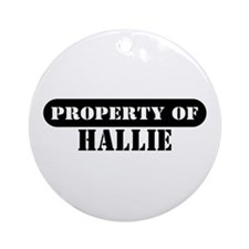 Property of Hallie Ornament (Round)
