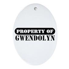 Property of Gwendolyn Oval Ornament