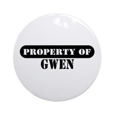 Property of Gwen Ornament (Round)