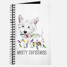 Westie Christmas Lights Journal