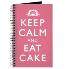 Keep Calm And Eat Cake Journal