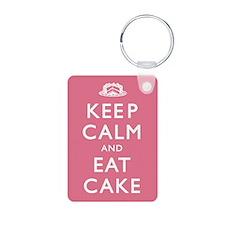 Keep Calm And Eat Cake Keychains