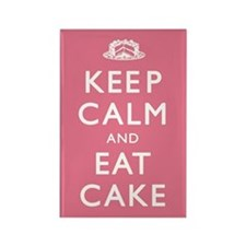 Keep Calm And Eat Cake Rectangle Magnet