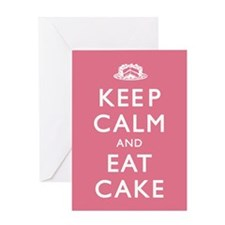 Keep Calm And Eat Cake Greeting Card