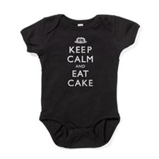 Keep Calm And Eat Cake Baby Bodysuit