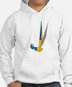 Scottie Christmas Lights Fitted Hoodie