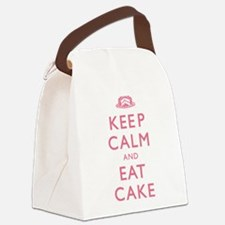 Keep Calm And Eat Cake Canvas Lunch Bag