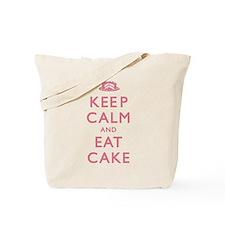 Keep Calm And Eat Cake Tote Bag