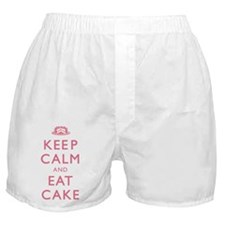 Keep Calm And Eat Cake Boxer Shorts