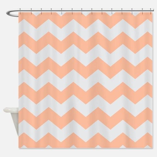 Peach shower curtains
