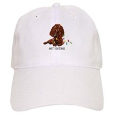 Christmas Irish Setter Baseball Cap