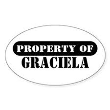 Property of Graciela Oval Decal