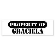 Property of Graciela Bumper Bumper Sticker