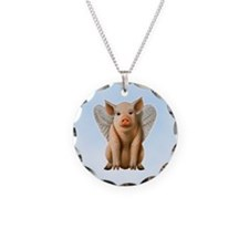 Tiny Flying Pig Necklace