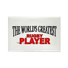 """The World's Greatest Rugby Player"" Rectangle Magn"