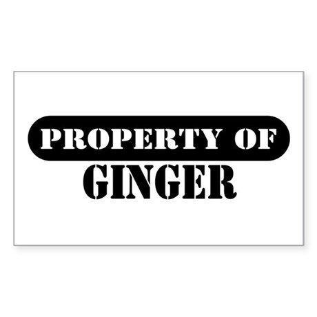 Property of Ginger Rectangle Sticker