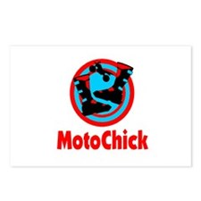 MotoChick Logo Postcards (Package of 8)