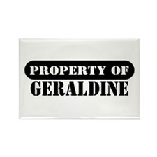 Property of Geraldine Rectangle Magnet (100 pack)