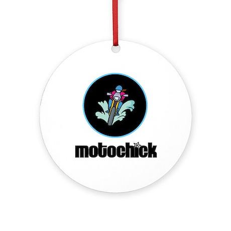 MotoChick II Ornament (Round)