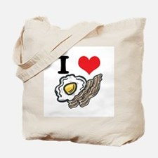 I Heart (Love) Bacon and Eggs Tote Bag