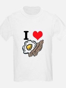 I Heart (Love) Bacon and Eggs Kids T-Shirt