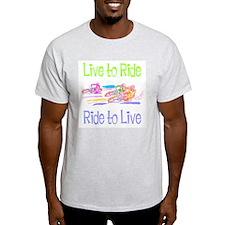 Live to Ride Ash Grey T-Shirt