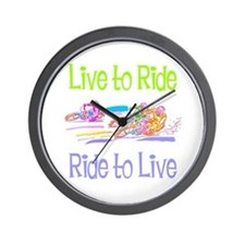 Live to Ride Wall Clock