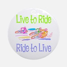 Live to Ride Ornament (Round)