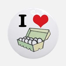 I Heart (Love) Eggs Ornament (Round)