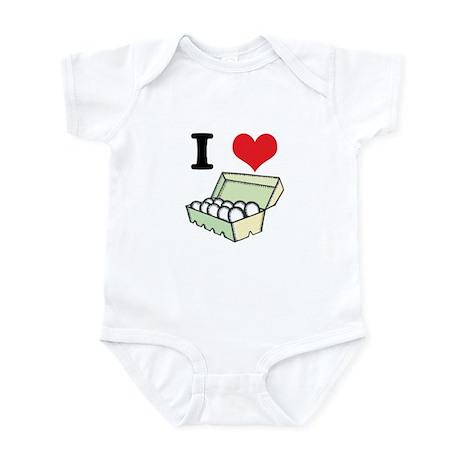 I Heart (Love) Eggs Infant Bodysuit