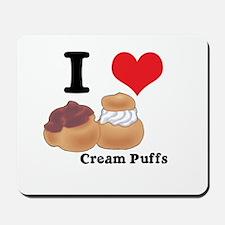 I Heart (Love) Cream Puffs Mousepad